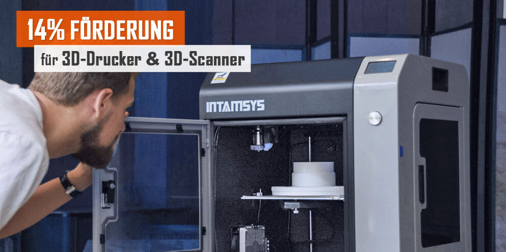 14% Förderung für 3D-Drucker
