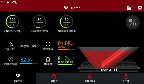 Raise3D E2 Touchscreen