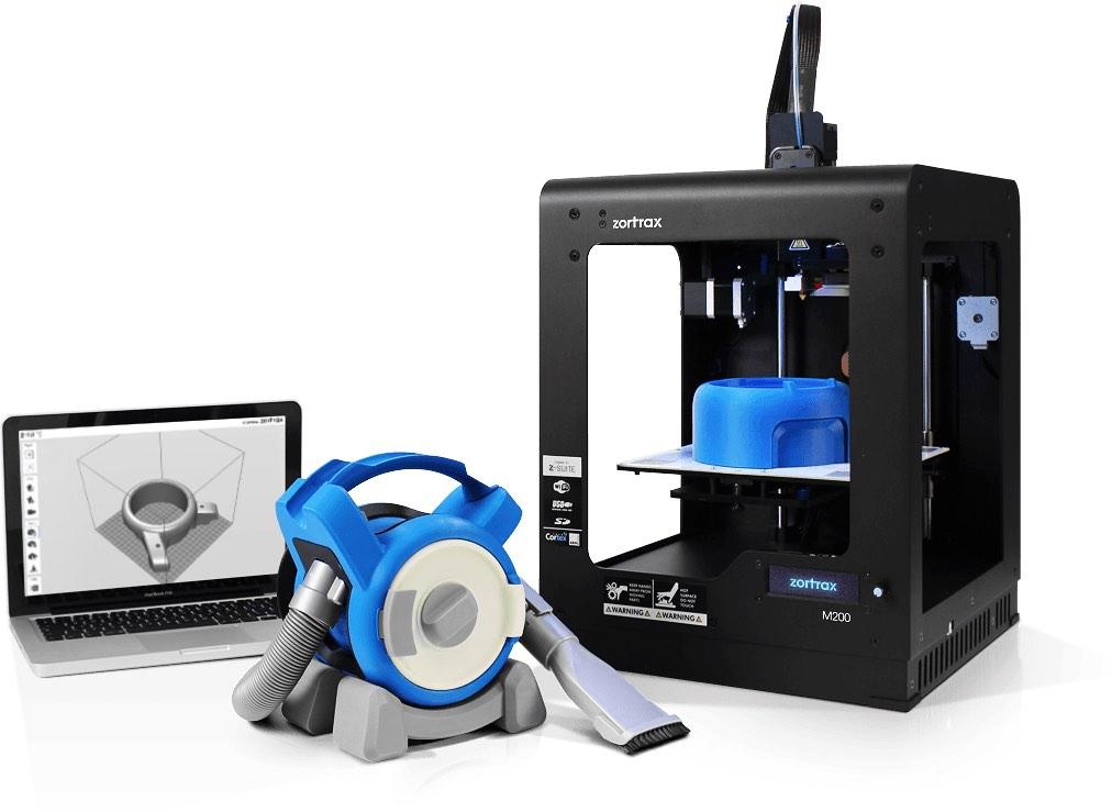 Zortrax 3D-Drucker mit Produkt