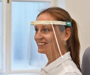 3Dee Gesichtsschild in Anwendung