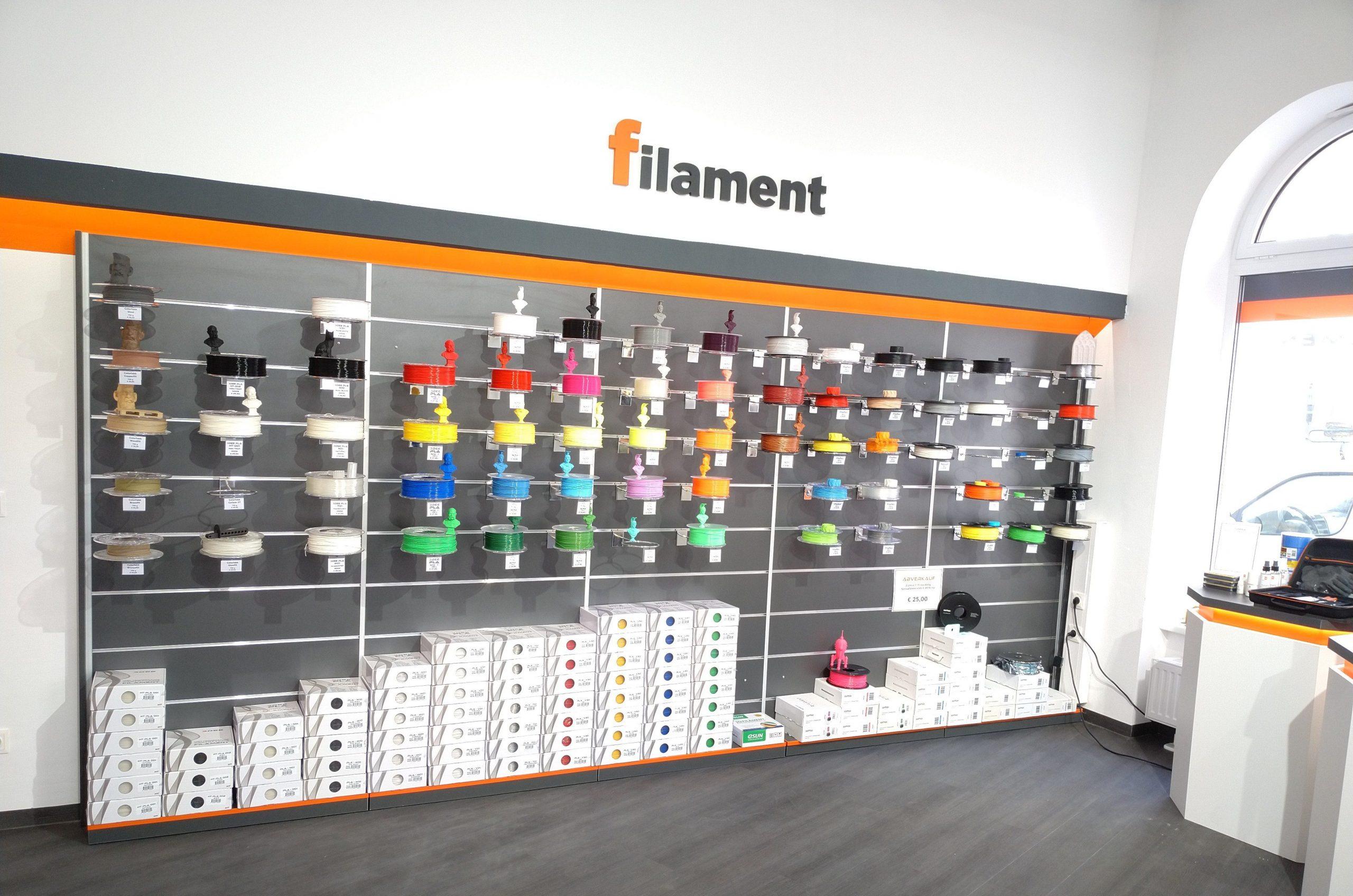 Filament-Auslage