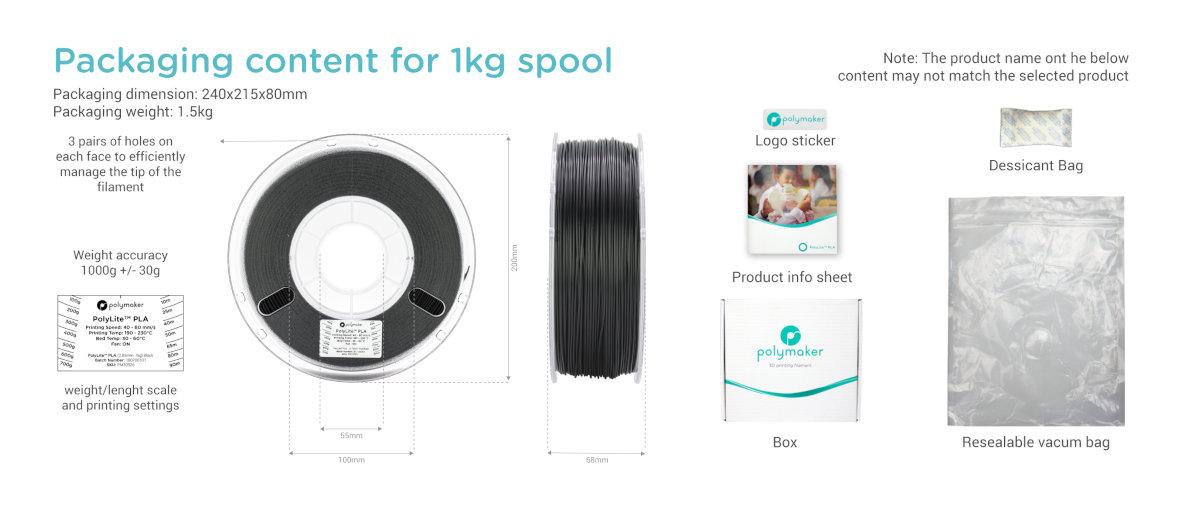 polymaker polylite petg schwarz kaufen 3dee Verpackung