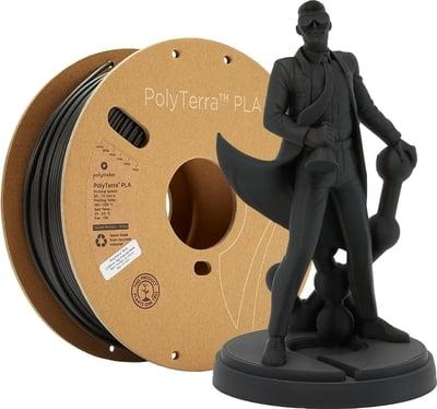 polymaker polyterra pla charcoal black kaufen 3dee